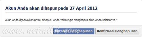Akun DL FB 4 Cara Hapus Permanen Account Facebook