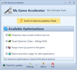 mz ss ga Mejalankan game dengan cepat dengan game accelelator
